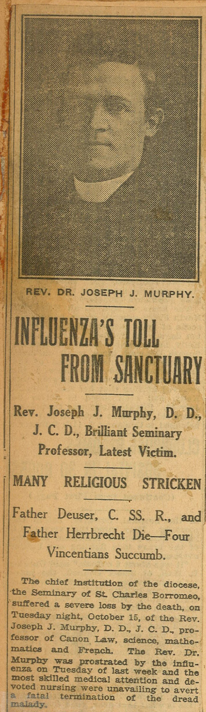Influenza's Toll From Sanctuary