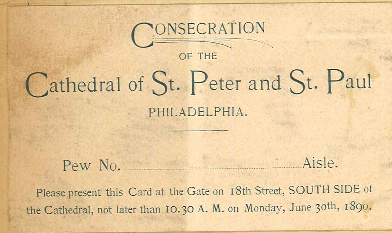Cathedral Consecration Ticket