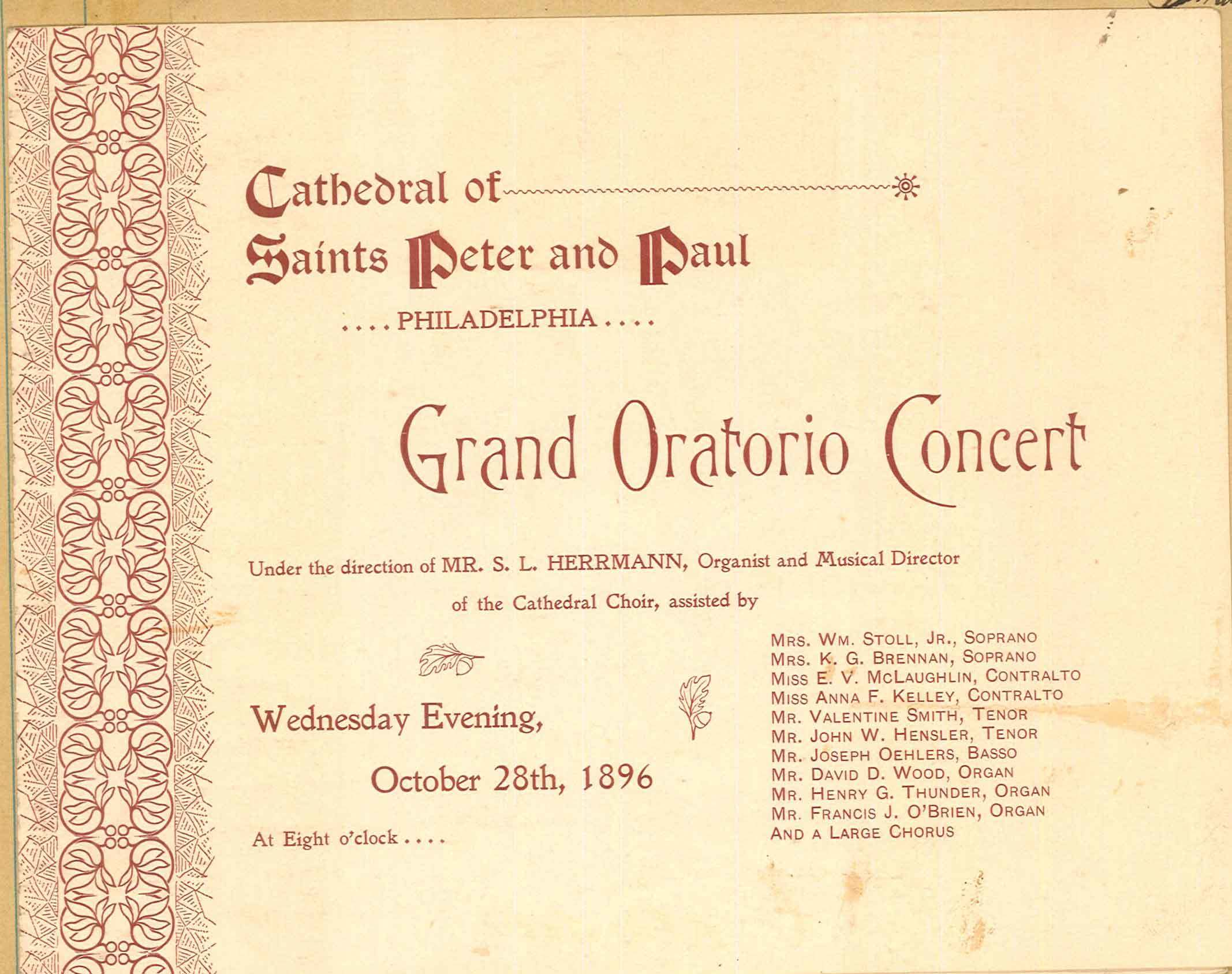 Grand Oratorio Concert Program