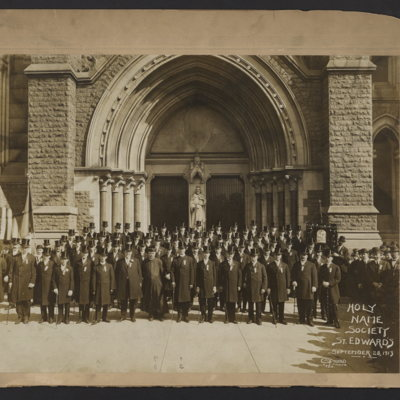 Holy Name Society, St. Edward's. September 28, 1913