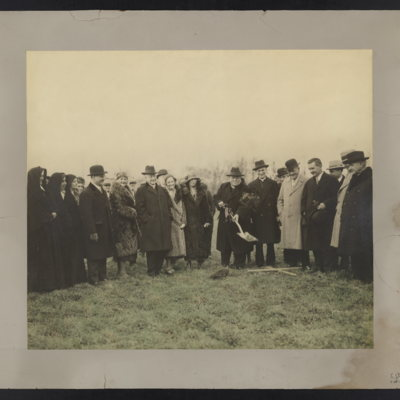 Breaking of ground, Fitzgerald-Mercy Hospital. March 2, 1932.