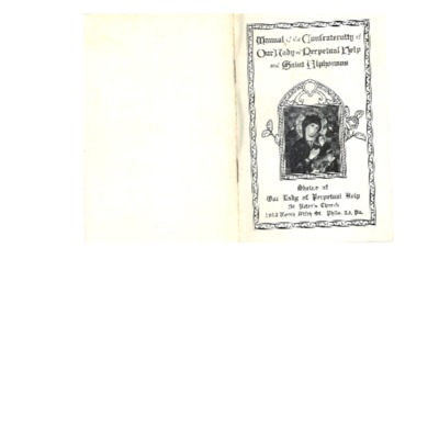 Manual of the Confraternity of Our Lady of Perpetual Help and St. Alphonsus