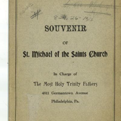 Souvenir of St. Michael of the Saints Church