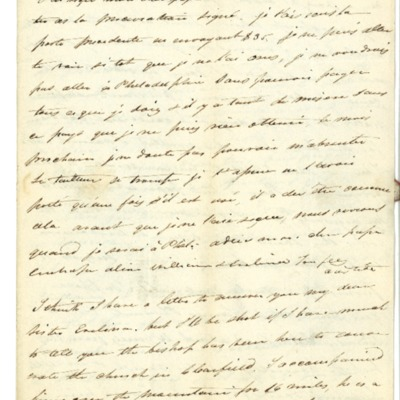 Letter to Jacques Andre Rodrigue from Aristide Rodrigue, 03/10/1832
