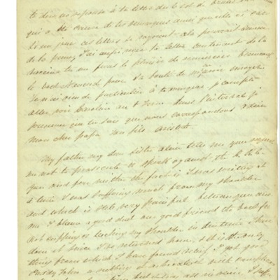 Letter to Jacques Andre Rodrigue from Aristide Rodrigue, 01/15/1834