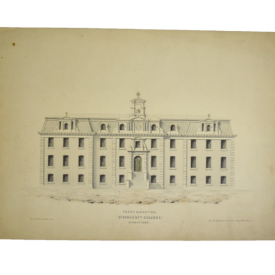 Front elevation, St. Vincent's [Seminary], Germantown