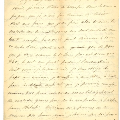 Letter to Jacques Andre Rodrigue from Aristide Rodrigue, 06/23/1833