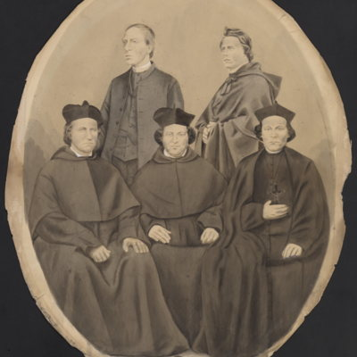 Five unidentified priests.