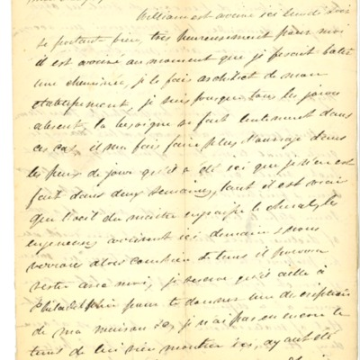 Letter to Jacques Andre Rodrigue from Aristide Rodrigue, 09/06/1833