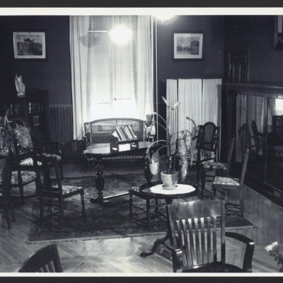 Interior of room at St. Vincent's Orphanage.