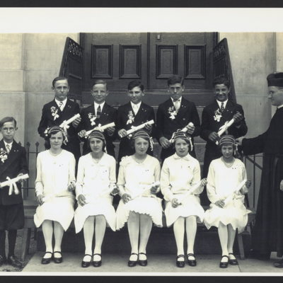 Group of graduates at St. Vincent's Orphanage.