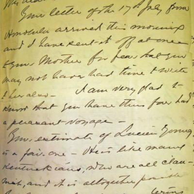 Letter from Adm. James Hoban Sands to William Franklin Sands, 08/04/1896