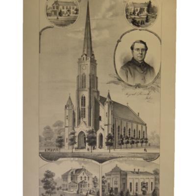 Catholic Church Property at Breese, Clinton Co., Ill.