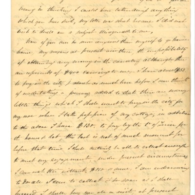 Letter to Aline Rodrigue Maguire from Aristide Rodrigue, 02/19/1833