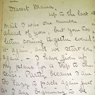 Letter from William Franklin Sands to Mary Elizabeth Sands, 09/03/1896