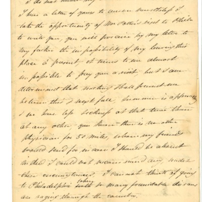 Letter to Aline Rodrigue Maguire from Aristide Rodrigue, 03/20/1833