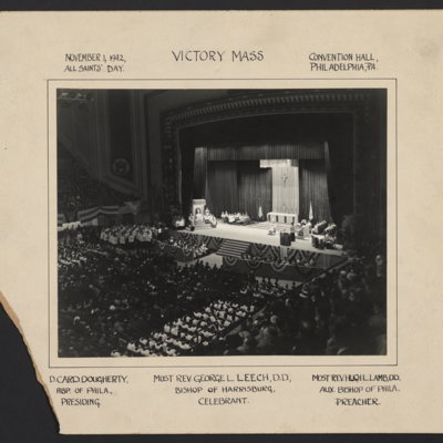 Victory Mass. November 1, 1942, All Saints' Day. Convention Hall, Philadelphia, Pa.