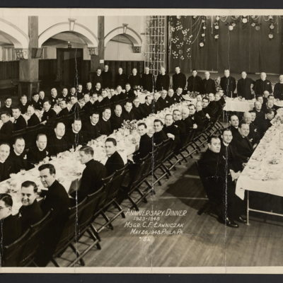 Anniversary Dinner, 1923-1948, Msgr. C. F. Lawniczak. May 26, 1948, Phila., Pa.