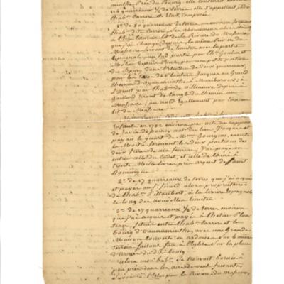 Memoire on D'Orlic's properties on St. Domingue.
