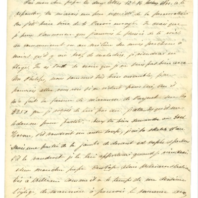 Letter to Jacques Andre Rodrigue from Aristide Rodrigue, 11/21/1832