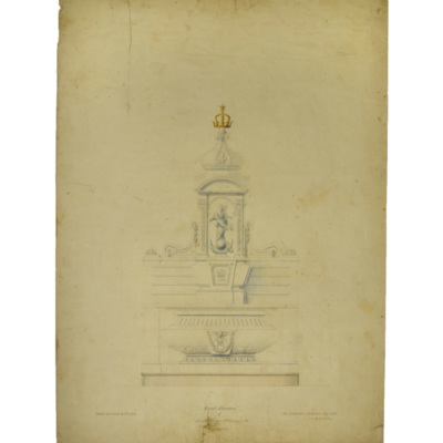 Front elevation of altar to Virgin, St. Vincent's Ch[urch], Germantown