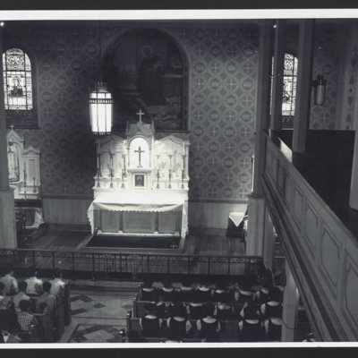 Interior of chapel at St. Vincent's Orphanage.