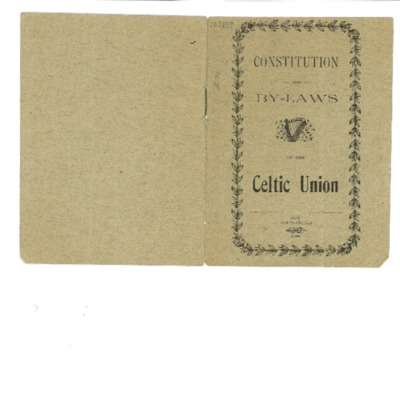 Constitution and By-Laws of the Celtic Union