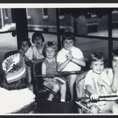 Girls from St. Vincent's Orphanage on a ride.