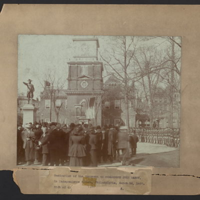 Dedication of the monument to Commodore John Barry, in Independence Square, Philadelphia, March 16, 1907
