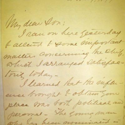 Letter from Adm. James Hoban Sands to William Franklin Sands, 05/04/1897