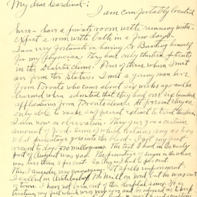 Letter to Cardinal Dougherty from Most Reverend Michael J. Crane, 11/18/1922