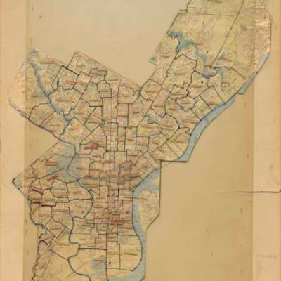 [Map of Philadelphia Parishes]