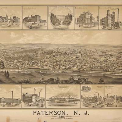 Paterson, N.J. 1880. 17 miles from New York on the N.Y. LE. & W. Ry.