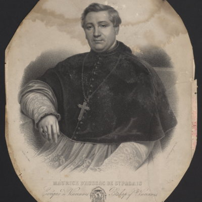 Maurice D'Aussac de St. Palais. Bishop of Vincennes (United States of America)