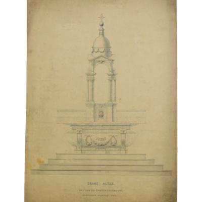 Grand altar. St. Francis Church, Fairmount