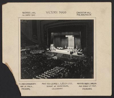 Victory Mass. November 1, 1942, All Saints' Day. Convention Hall, Philadelphia, Pa.